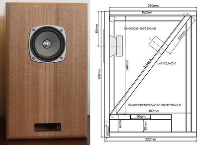 Thùng Loa Bookshelf Double Bass Reflex FF85WK